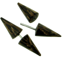 Palm Wood Spiked Fakie Earrings