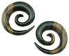 1 inch Ebony Wood Large Round Spiral Earrings