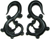 Fancy Horn S Hook Earrings, 3 gauge through 00 gauge (pair)