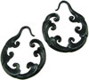 Fancy Horn Cloud Hoop Earrings, 10 gauge - 11 gauge