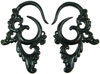Fancy Horn Hook Earrings, 6 gauge