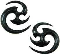 Large Gauge Horn Matrix Earrings