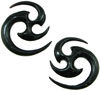 Horn Matrix Earrings, 9 gauge - 4 gauge
