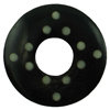 1/2 inch Hollow Horn Plugs with Inlaid Bone Berber Dots for stretched piercings