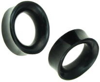 Hollow Horn Oval Plugs, 1 inch