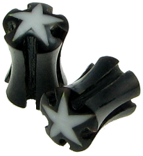 Horn Saddle Plugs, Holes, Stars, 2 gauge - 3 gauge
