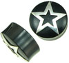 Horn Saddle Plugs Inlaid with Silver Stars, 7/8 inch - 1-1/8 inch
