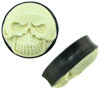 2 inch diameter areng wood plugs with bone skull faces