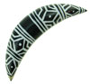 1/2 inch White Tattoo Designed Horn Septum Tusk