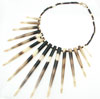 African Porcupine Quill & Bead Florence Necklace