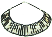 African Porcupine Quill Bead Necklace