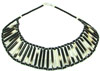 African Porcupine Quill & Bead Necklace