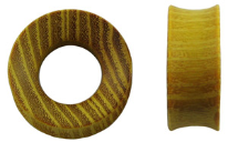 Osage Orange Hardwood Tunnel Plugs, 1-1/8 inch