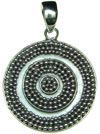 Sterling Silver Round Disc Pendant
