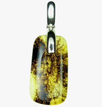 Sterling Silver Baltic Amber Debris Pendant