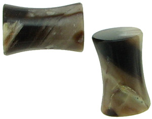 2 gauge Petrified Wood Saddle Plugs
