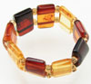 Multi-colored Baltic Amber Beaded Ring