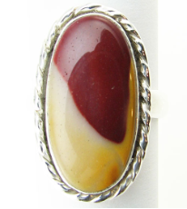 Sterling Silver Mookaite Stone Ring