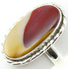 Oval Sterling Silver Mookaite Stone Ring, size 6