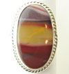 Oval Sterling Silver Mookaite Stone Ring, size 8.5