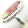 Oval Sterling Silver Mookaite Stone Ring, size 8.75
