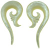 00 gauge Mother of Pearl Shell Sprouting Spiral Earrings