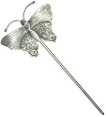 Thai Silver Hair Stick, Butterfly