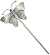 Thai Silver Hair Stick, Butterfly (single)