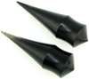Spiked Horn Saddle Plugs, 0 gauge through 5/8 inch diameter (pair)