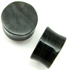"3/4"" Silver Sheen Obsidian double flared plugs"
