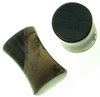 2 gauge smoky obsidian double flared plugs