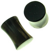 2 gauge silver sheen obsidian saddle plugs