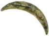 Mottled Serpentine Curved Septum Tusk, 0 gauge through 0 gauge