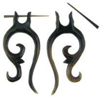 Thorn Style Horn Sprouting Spiral Earrings