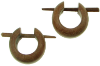 Thorn Style Sawo Wood Earrings, Pincher Hoops