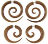 Sawo Wood Fakie Spiral Earrings
