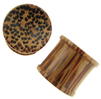 Large Gauge Coconut Wood Concave Bobbin Plugs