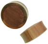 Sawo Wood Saddle Plugs with Suar Wood Inlays, 1-1/4 inch and 1-3/8 inch