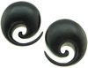 Areng Wood Spiral Earrings, 1-1/4 inch