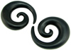 Areng Wood Spirals, 5/8 inch diameter (pair)
