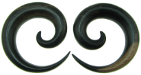 Ebony Wood Round Spiral Gauge Earrings
