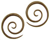 4 gauge Sawo Wood Spiral Earrings