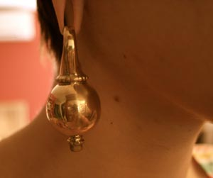 Margaux ordered a pair of shiny Dayak Brass Round Ear Weights