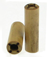 Bamboo Cylinder Plugs with Burnt 4 Lines Designs, pair, 4 gauge or 6 gauge