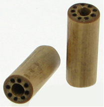 Large Gauge Bamboo Cylinder Plugs, Burnt Dots Designs