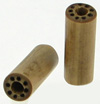 Bamboo Cylinder Plugs with Burnt Dots Designs, pair, 5 gauge