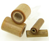 Bamboo Cylinder Plugs, pair, 6 gauge through 00 gauge