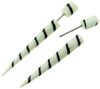 Bone Taper Fakie Screw Spiral Spike Earrings