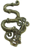 Dayak Brass Fire Dragon Pendant