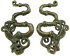 Dayak Brass Fire Dragon Ear Weights